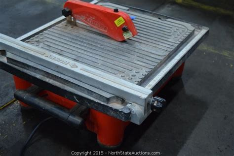 husky tile saw thd750l state auctions auction northstate january auction