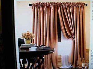 chris madden shimmer sheer clarinet rod pocket drape panel