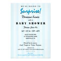 Baby Shower Balloons For Boys by Surprise Baby Shower Invitations Amp Announcements Zazzle