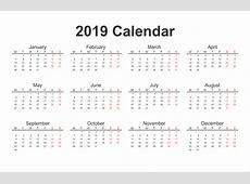 Free Printable Calendar 2019 Templates 2019 Printable