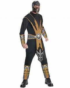 C615 Mens Mortal Kombat Scorpion Ninja Halloween Adult ...