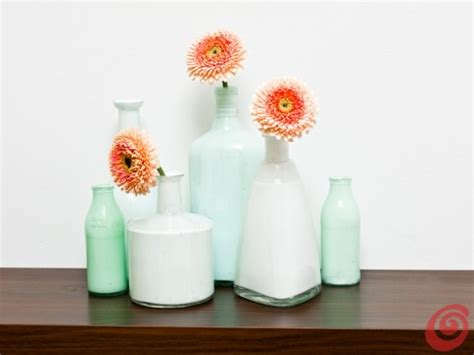 vasi e bottiglie di vetro vasi fai da te ricavati da bottiglie di vetro casa e trend