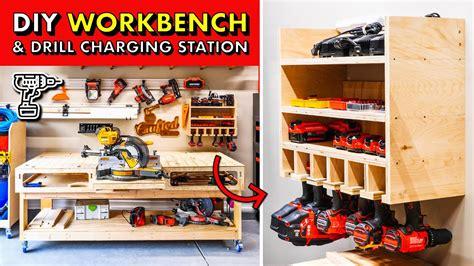 garage shop storage diy  workbench base drill