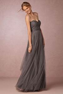 20 gorgeous gray bridesmaid dress ideas for fall weddings With robe grise longue