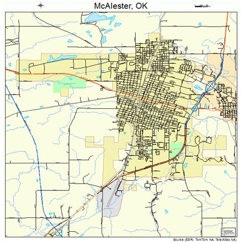 McAlester Oklahoma Street Map 4044800
