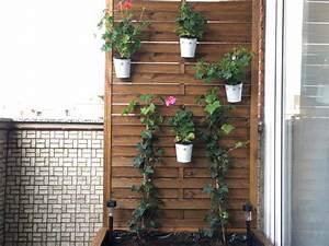 Balkon Sichtschutz Blumenkbel DIY Anleitung Idatschkade