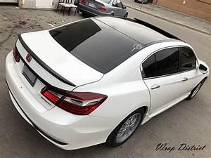 Honda Accord - Roof & Spoiler Wrap in Gloss Black - Wrap