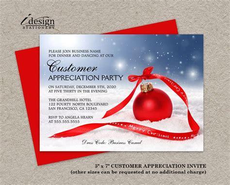 Holiday Customer Appreciation Party Invitations Festive