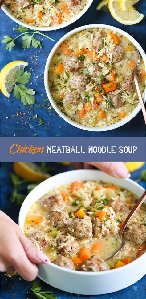 This recipe is so easy and tastes like restaurants. CHICKEN MEATBALL NOODLE SOUP | Recipe Spesial Food