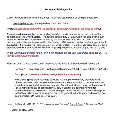 Annotated Bibliography Indentation Apa