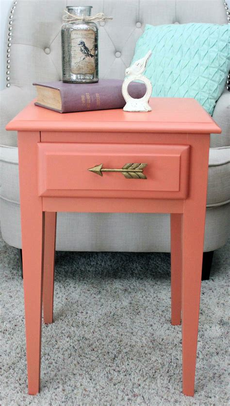 colorful table ls custom coral side table general finishes design center