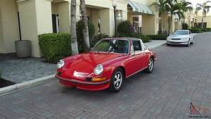 Porsche Nice : 1972 porsche 911 targa 2 4 litre red with black leather very nice car ~ Gottalentnigeria.com Avis de Voitures