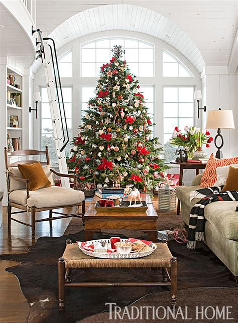 snowy vermont home ready  christmas traditional home