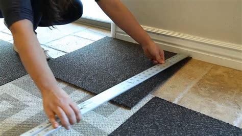 Simply Seamless Carpet Tiles by How To Install Carpet Tile Flooring Youtube