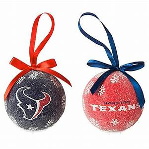 NFL Houston Texans LED Lighted Christmas Ornament Set Set