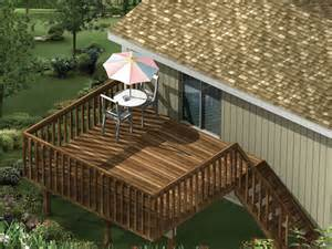 10 x 16 raised deck plans house design and decorating ideas