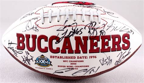 Multi Signed Buccaneers Super Bowl Xxxvii Football With