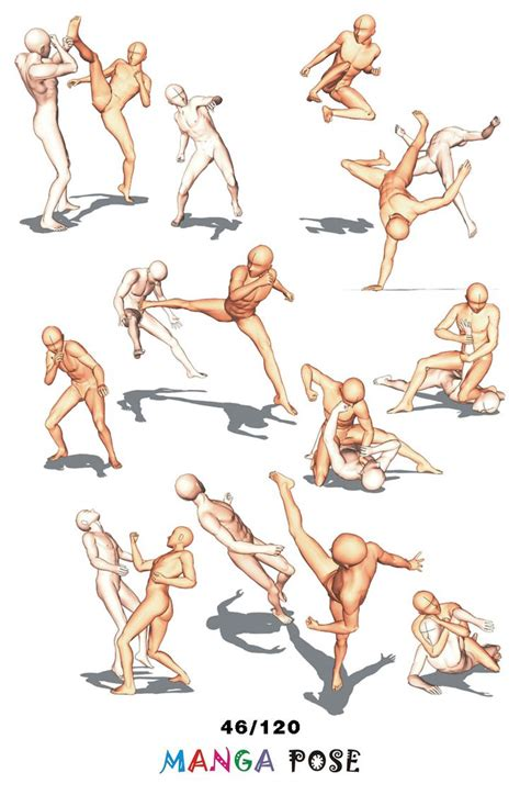 anime fight full 307 best images about drawing poses on pinterest models