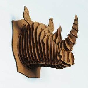 Trophée Animaux Carton : troph e robbie le rhino en carton recycl maxence animaux en carton rhinoc ros et t tes d ~ Melissatoandfro.com Idées de Décoration