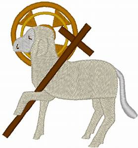 Agnus Dei: Lamb of God #1 Embroidery Design
