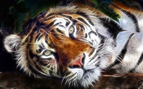 Fractal Animal Wallpaper - fractal tiger wallpaper fractal tiger animal cat