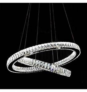 Lustre Suspension Design : suspension design led et cristal 2 cercles ~ Teatrodelosmanantiales.com Idées de Décoration