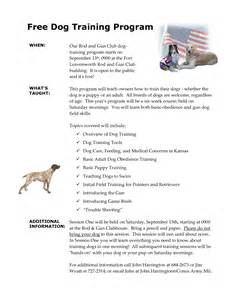 Dog Training Program Template