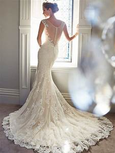 sophia tolli illusion mermaid vintage lace wedding dresses With vintage lace mermaid wedding dress