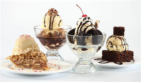 ice cream dishes  white background food photography