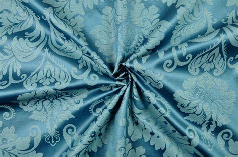Outdoordekostoff  Barockornament  Blau  Online Kaufen