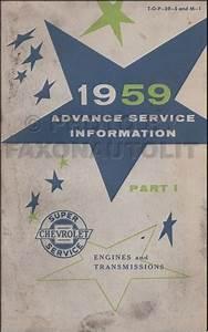 1959 Chevrolet Truck Wiring Diagram Manual Reprint