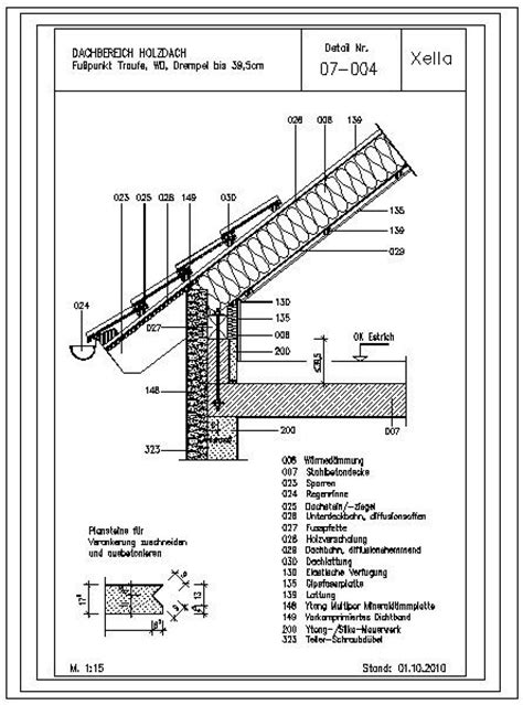 drempel 60 cm cad detail 07 004 fu 223 punkt traufe wd drempel bis 39 5cm