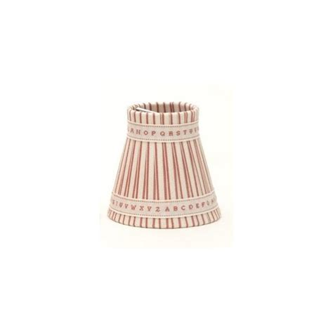 candle light l shades pink striped clip on candle shades with alphabet ribbon