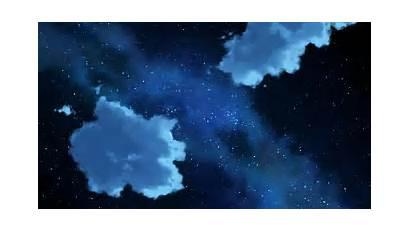 Sky Night Anime Starry Skies Gifs Landscape