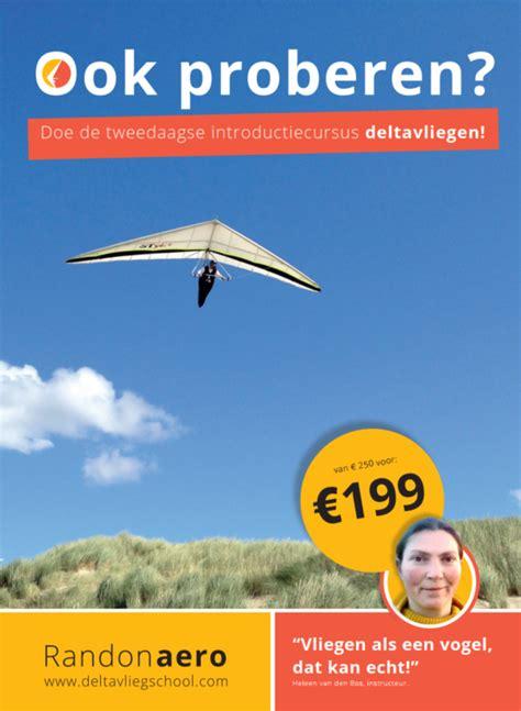 promocampagne deltavliegen  mee deltavliegschool randonaero adventures