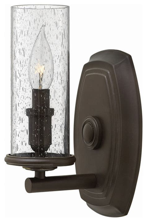 hinkley lighting single light wall sconce rustic