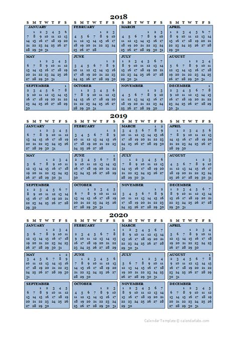 year calendar template printable templates