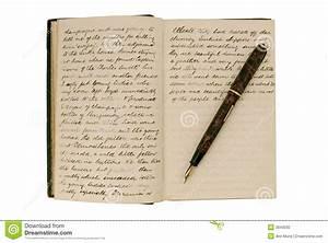 Paginaciones En Un Diario Antiguo Del Recorrido Foto de archivo Imagen: 3943030