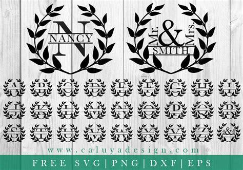 0:52 svg cut file design нет просмотров. FREE SVG & PNG Link Wreath Split Monogram Cut Files svg | Etsy