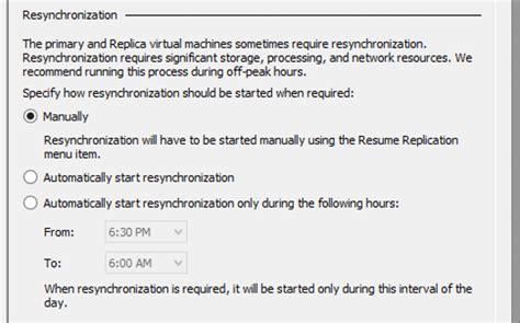 hyper v replica resynchronization process