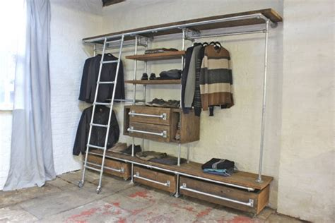 upcycled pipes wardrobe closets upcycle art