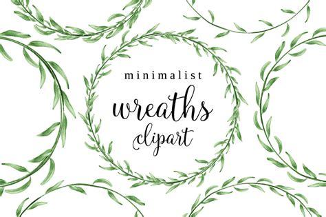 watercolor clipart laurel wreath pencil   color