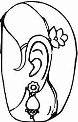 Coloring Pages Jewelry Earrings Template Popular Sweet Coloringhome Templates sketch template