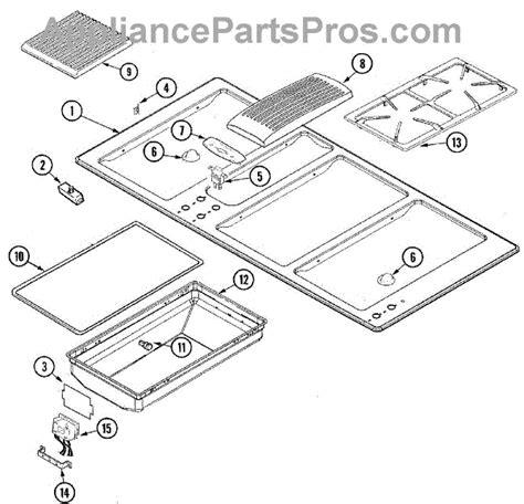 jenn air cooktop parts parts for jenn air jgd8345adb top assembly parts
