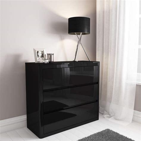lexi black high gloss  drawer chest  drawers furniture