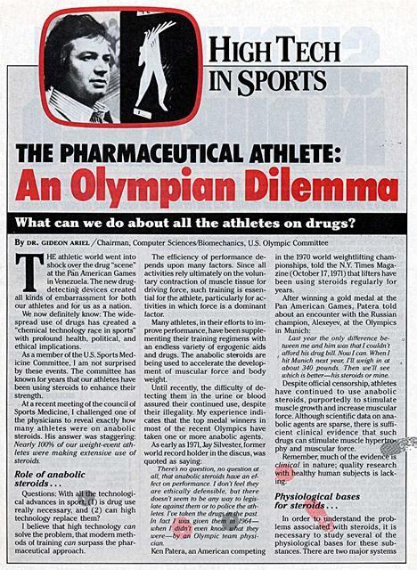 pharmaceutical athlete
