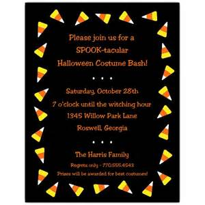 bridal shower luncheon candy corn border invitations paperstyle
