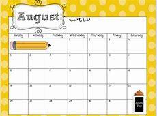 Free Editable Calendar For Teachers Calendar Template 2018