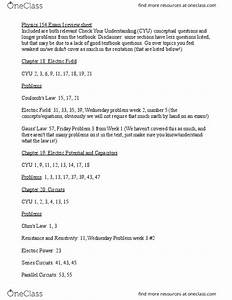 Phys 153 Study Guide - Fall 2016  Midterm