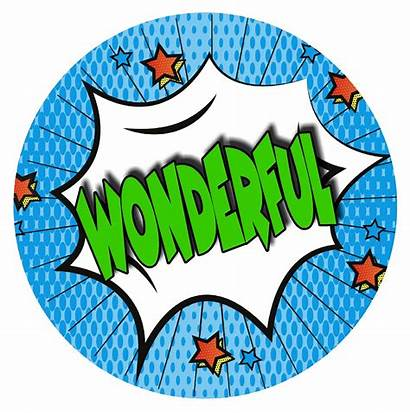 Stickers Reward Teacher Superhero Praise Words Comic